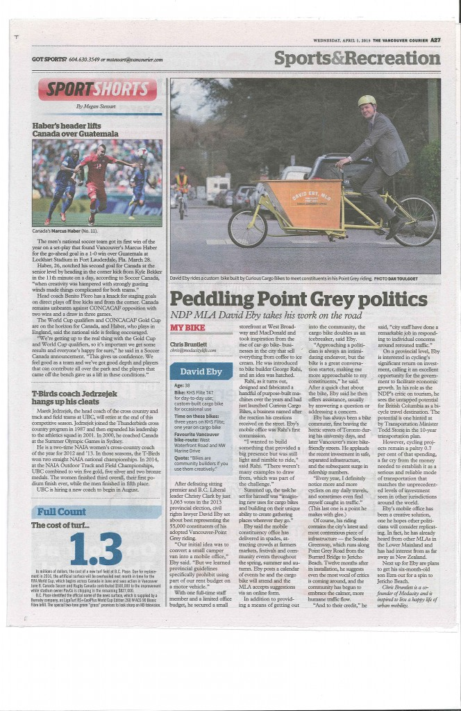 Courier Bike article