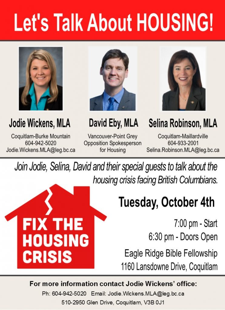 Let's Fix the Housing Crisis: Coquitlam @ Eagle Ridge Bible Fellowship | Coquitlam | British Columbia | Canada
