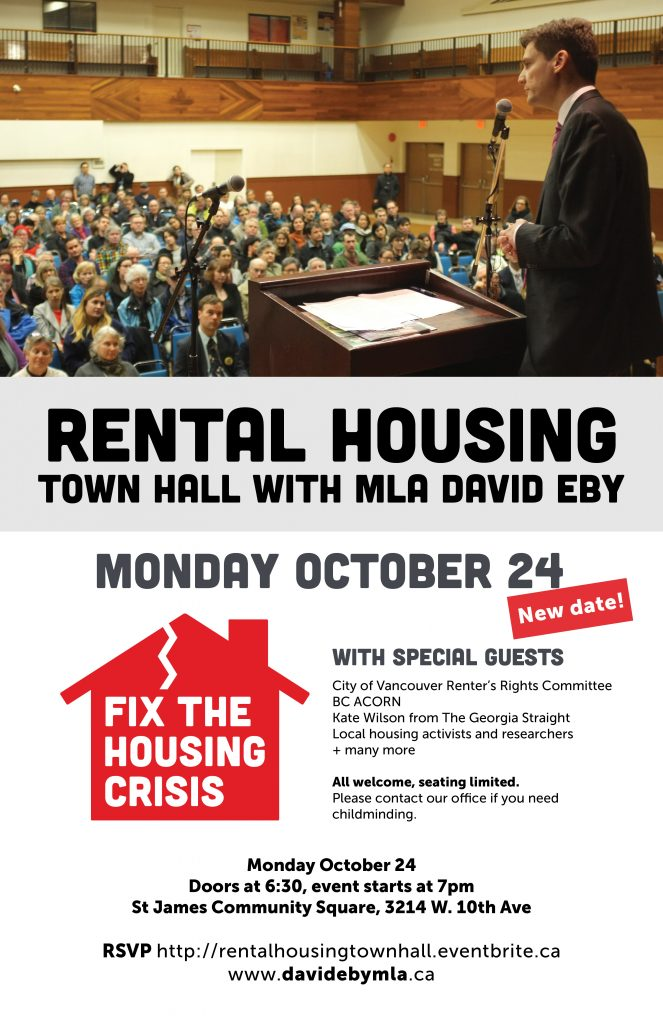 David Eby's Rental Housing Town Hall @ St James Community Square | Vancouver | British Columbia | Canada