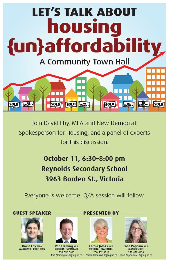 Victoria: Let's talk about housing @ Reynolds Secondary School | Victoria | British Columbia | Canada