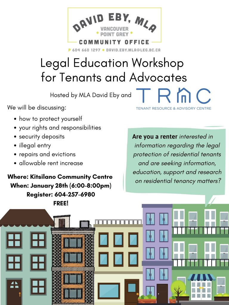 Free Renters' Rights Workshop @ Kitsilano Community Centre
